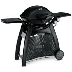 57010004A14 2014 Weber Q 3200 Gas Grill LP Black EU Product Facing Right