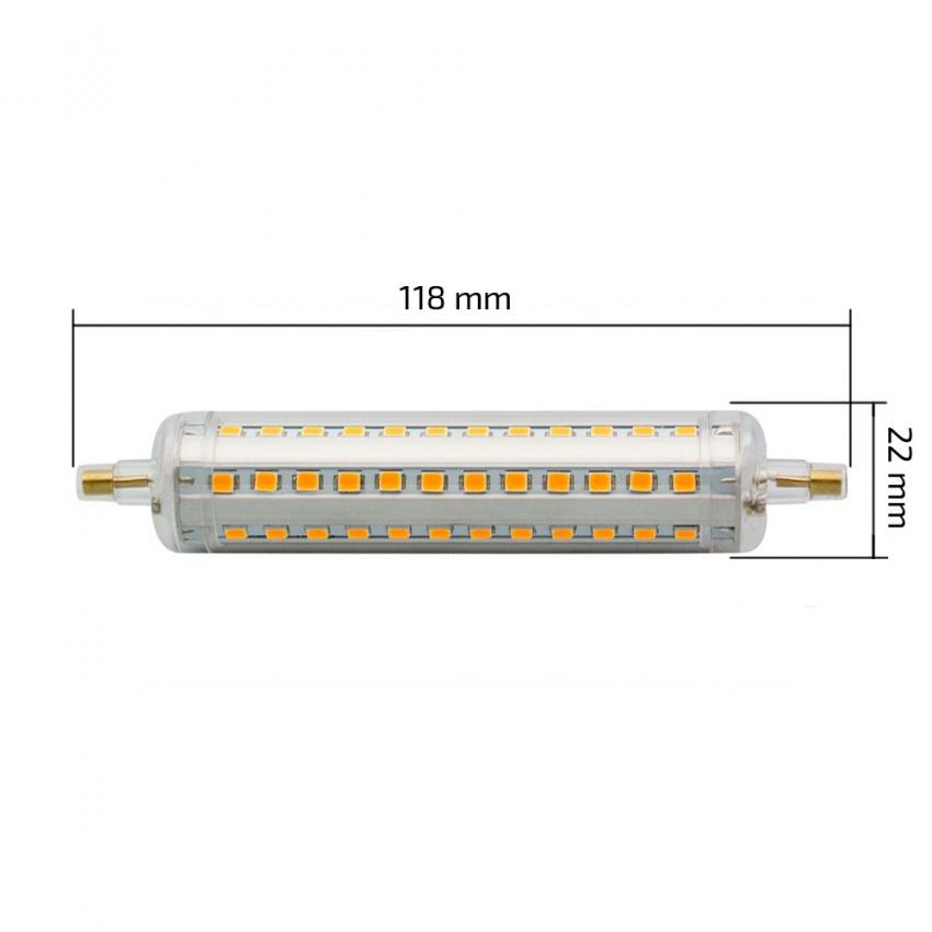 Bombilla led lineal r7s 118mm 230 v 10w for Sustituir bombilla halogena por led